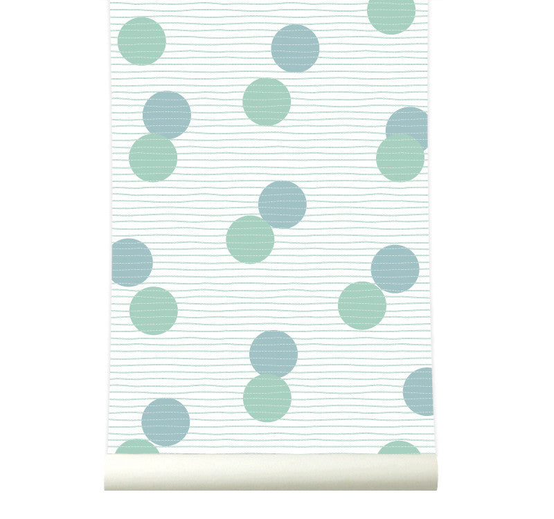 Behang Confetti Greenblue - roomblush