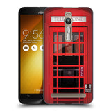 HEAD CASE DESIGNS TELEPHONE BOX HARD BACK CASE FOR ASUS ZENFONE 2 DELUXE
