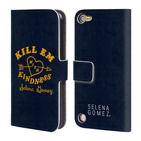 Official Selena Gomez Revival Art Leather Book Wallet Case Cover For iPod Touch 5th Gen / 6th Gen