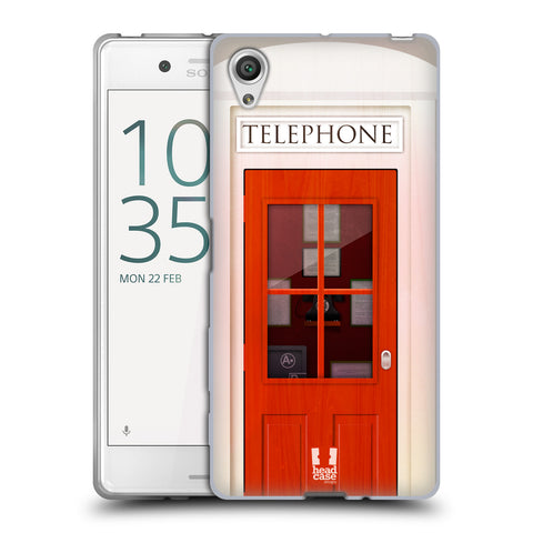 Head Case Designs Telephone Box Soft Gel Case for Sony Xperia X