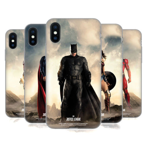 Justice League Movie Character Posters Soft Gel Case for Apple iPhone XS Max