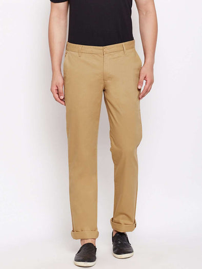 Men's Cotton Biscuit Regular Fit Pants Cottonworld Men's Pants