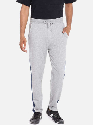 Cottonworld Men's Pants MEN'S 100% COTTON GREY MELAN REGULAR FIT KPANTS