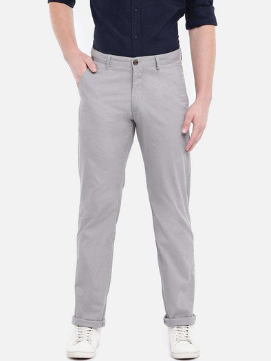 Men's Cotton Grey Slim Fit Pants Cottonworld Men's Pants