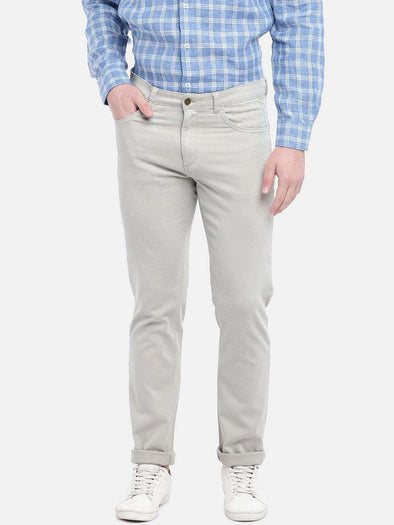 Cottonworld Men's Pants MEN'S 97% COTTON 3% LYCRA SAND SLIM FIT PANTS