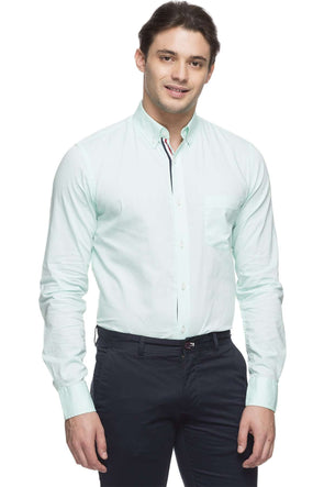 Cottonworld Men's Shirts MEN'S 100% COTTON MINT REGULAR FIT SHIRT
