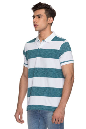 Cottonworld Men's Tshirts MENS 100% COTTON HALF SLEEVE TSHIRT - TEAL