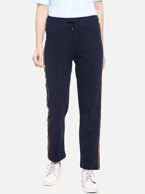 Cottonworld Women's Pants XSMALL / NAVY Women's Cotton Knit Navy Regular Fit Kpants
