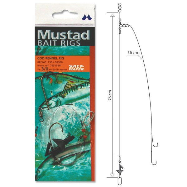 Mustad Cod Pennel Rig