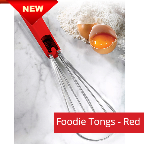 Foodie Tongs - Red handle - NEW
