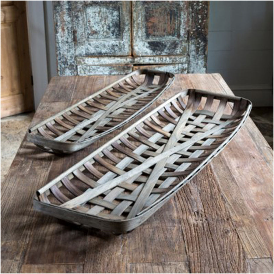 tobacco baskets, table top baskets, tobacco basket wall decor, farmhouse decor
