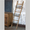 ladder with wire baskets, ladder with storage, leaning ladder with storage wire baskets