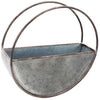round metal flower pot, galvanized metal flower pot,
