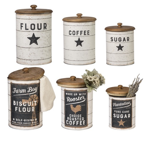 Farmhouse Storage Tins