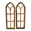Set of 2 Wooden Arches for Wall Decoration