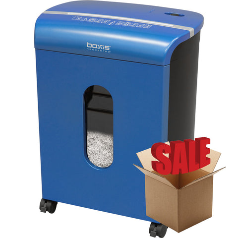 Boxis® NanoShred™ BN100P-BLE-R OPEN BOX 10 Sheet Nanocut Shredder - Blue<br> THE NEXT EVOLUTION OF PAPER SHREDDERS