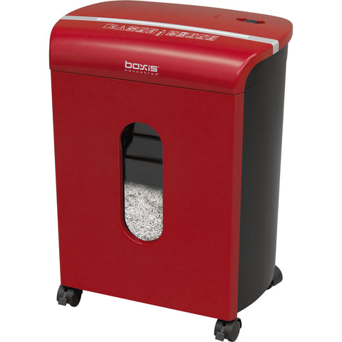 Boxis® NanoShred™ BN100P-RED-RP Repackaged 10 Sheet Nanocut Shredder - Red<br> THE NEXT EVOLUTION OF PAPER SHREDDERS