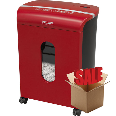 Boxis® NanoShred™ BN100P-RED-R OPEN BOX 10 Sheet Nanocut Shredder - Red<br> THE NEXT EVOLUTION OF PAPER SHREDDERS