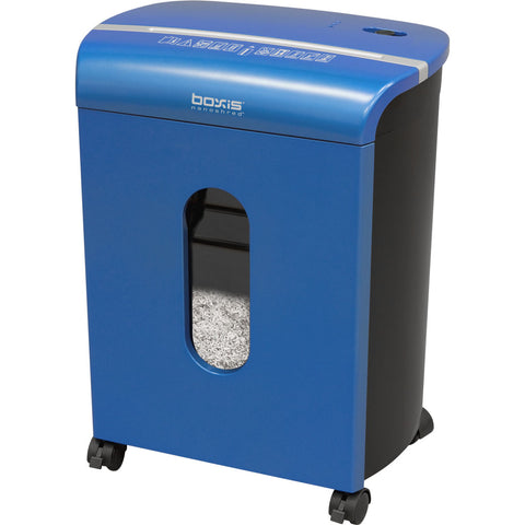 Boxis® NanoShred™ BN100P-BLE-RP Repackaged 10 Sheet Nanocut Shredder - Blue<br> THE NEXT EVOLUTION OF PAPER SHREDDERS