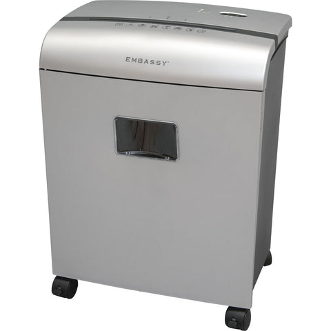 Embassy® 10 Sheet Microcut Paper Shredder LM101Pii-RP Metallic Silver Repackaged