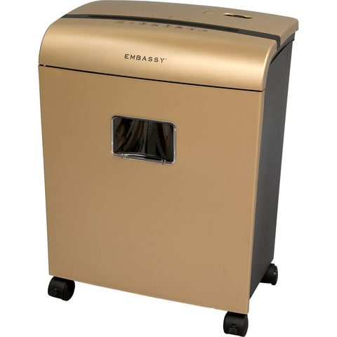 Embassy® 10 Sheet Microcut Paper Shredder LM101Piii Gold