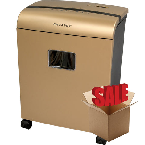 Embassy® 10 Sheet Microcut Paper Shredder LM101Piii-R Gold OPEN BOX