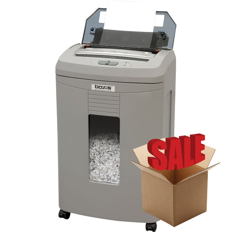 Boxis® AutoShred® 100 Sheet Autofeed Microcut Shredder AF100-R OPEN BOX