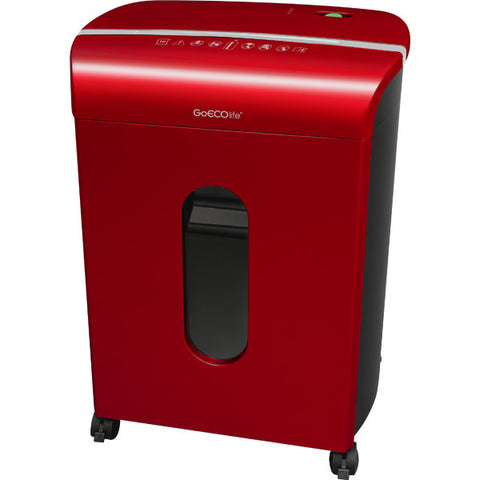 GoECOlife® Limited Edition 10 Sheet Microcut Paper Shredder Red GMW104P-RED
