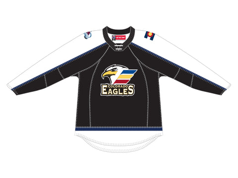 CCM Quicklite Colorado Eagles Customized Premier Black Jersey