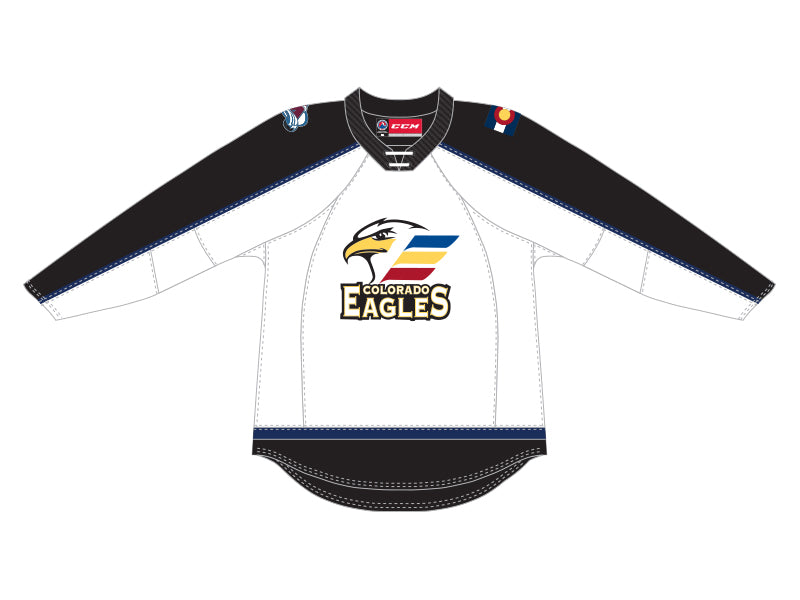 CCM Quicklite Colorado Eagles Customized Premier White Jersey