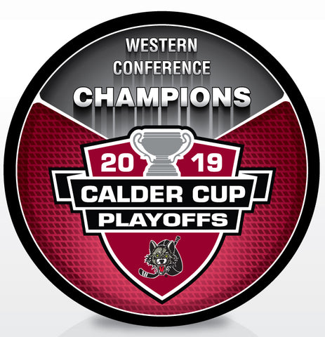Chicago Wolves 2019 Western Conference Champions Souvenir Puck