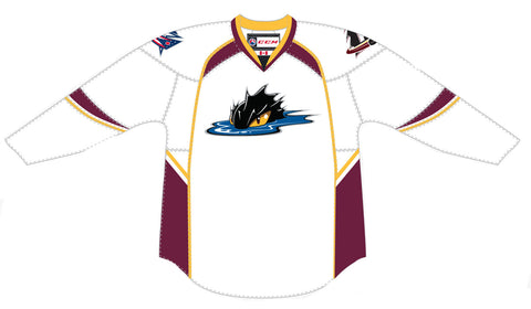 CCM Edge Cleveland Monsters Customized Premier White Jersey