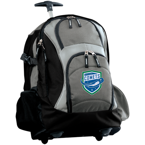 Utica Comets Embroidered Wheeled Backpack