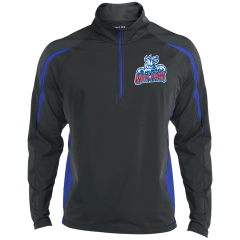 Hartford Wolf Pack Mens Sport Wicking Colorblock Half-Zip