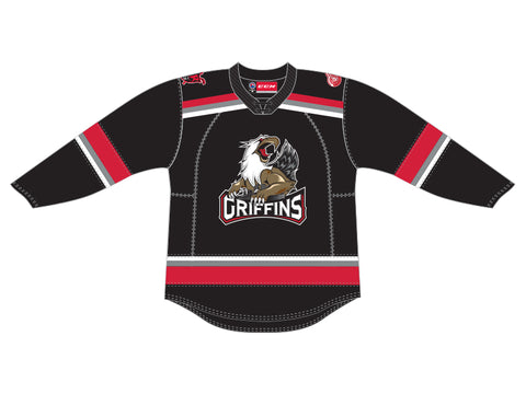 CCM Quicklite Grand Rapids Griffins Customized Premier Black Jersey