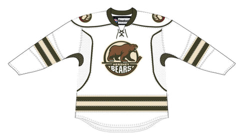 CCM Edge Hershey Bears Customized Adult White Jersey