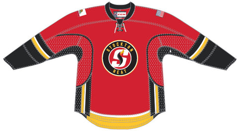 CCM Stockton Heat Customized Premier Red Jersey
