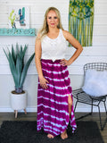 Purple In Plenty Maxi Skirt