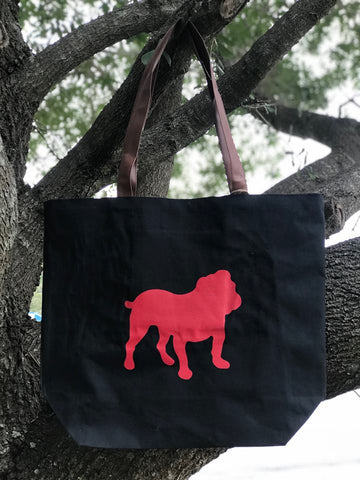 Bag : Canvas, Bulldog Silhouette