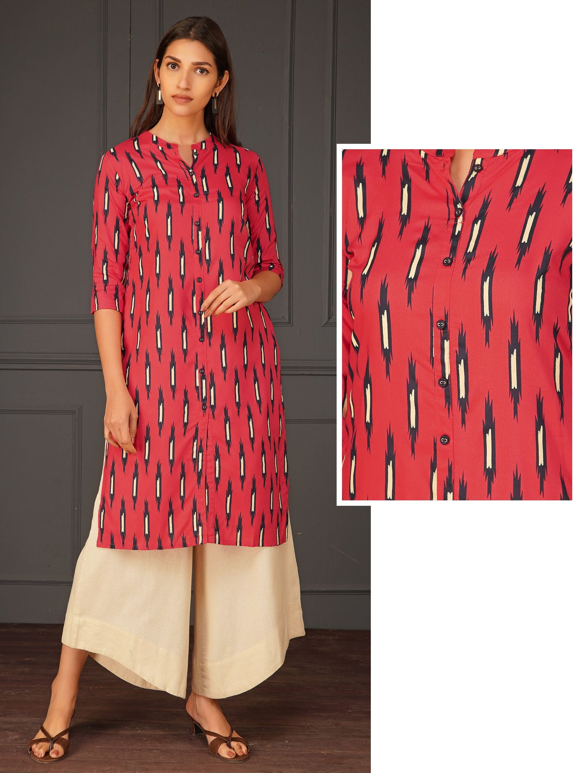 Pixelate Printed Kurta