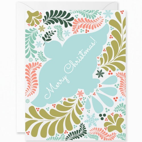 Otomi Teal Dove Merry Christmas [English]