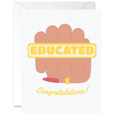 Educated Congratulations Graduation Greeting Card [English]