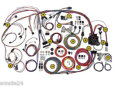 1964 1966 mustang wire harness wiring kit ford american. Black Bedroom Furniture Sets. Home Design Ideas