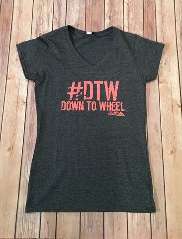 #DTW Down To Wheel - V Neck