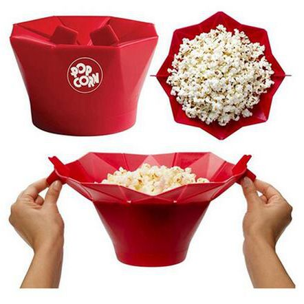 Microwave Popcorn Popper Maker Silicone Bowl Popcorn Machine Air Popper