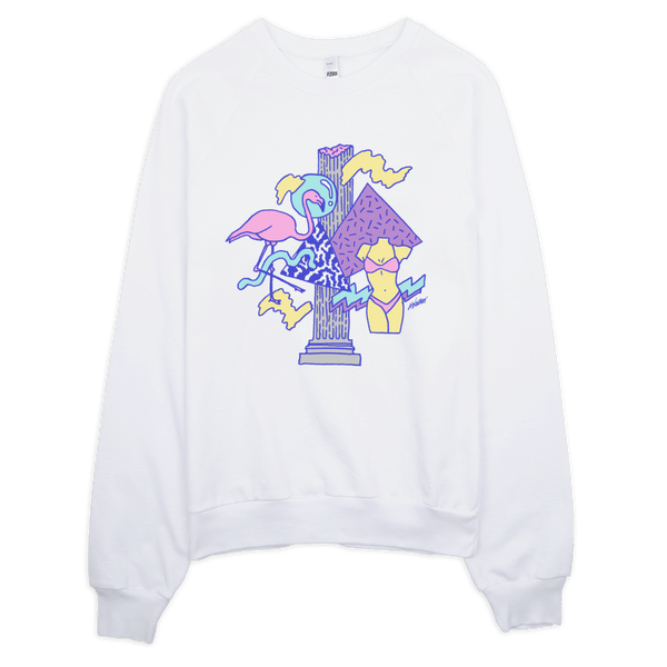 "Andrew Walker Sweatshirt ""Flamingo"" White"