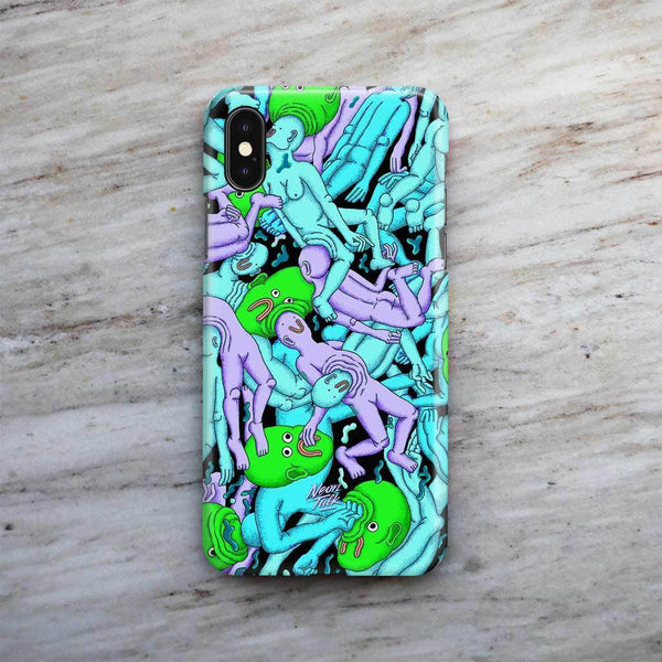 """Dreamy Swim"" Purple Phone Case by Alex Gamsu Jenkins"
