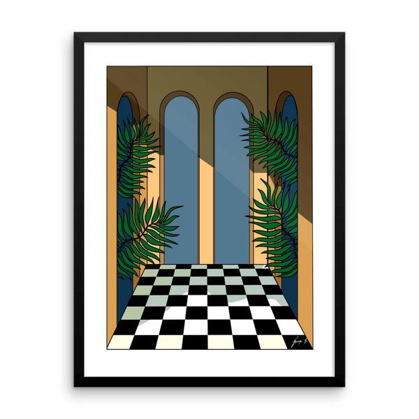 """Courtyard Shadows"" Art Print by George Greaves"
