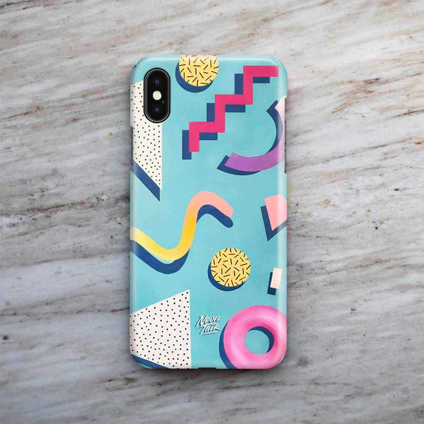 """Memphis Structure"" Phone Case by Mariah Birsak"