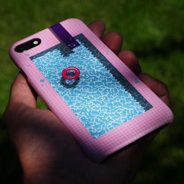 """Cool In The Pool"" Phone Case by Jiro Bevis"